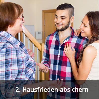 2 Hausfrieden absichern