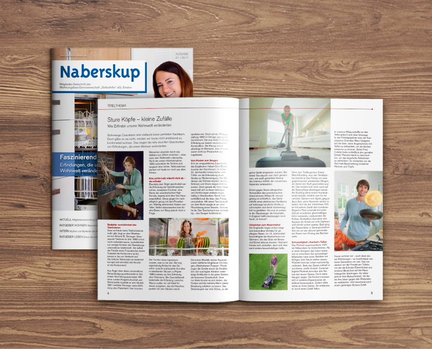 """Wohnungsbau-Genossenschaft """"Selbsthilfe"""" eGNaberskub Mietermagazin"""