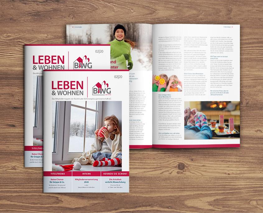 """""""Leben & Wohnen"""" – Buxtehuder Wohnungsbaugenossenschaft eG"""
