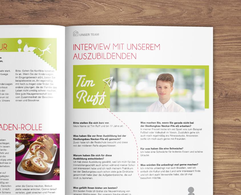 Siedlungsbau Neckar-Fils eG Siedlungsbau News Mietermagazin